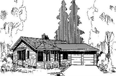 3-Bedroom, 2335 Sq Ft Ranch House Plan - 145-1110 - Front Exterior