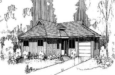 2-Bedroom, 1294 Sq Ft Ranch Home Plan - 145-1111 - Main Exterior
