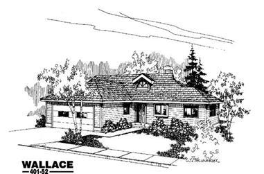 3-Bedroom, 1726 Sq Ft Ranch Home Plan - 145-1114 - Main Exterior