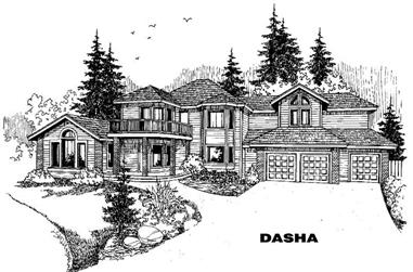 6-Bedroom, 4598 Sq Ft Luxury House Plan - 145-1118 - Front Exterior