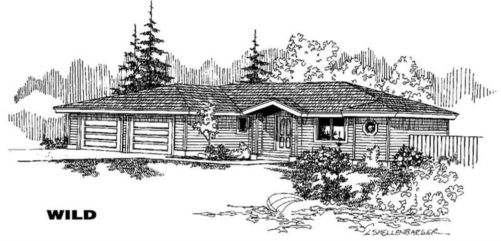 Ranch home (ThePlanCollection: Plan #145-1119)
