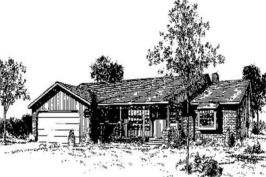 2-Bedroom, 1485 Sq Ft Ranch House Plan - 145-1120 - Front Exterior