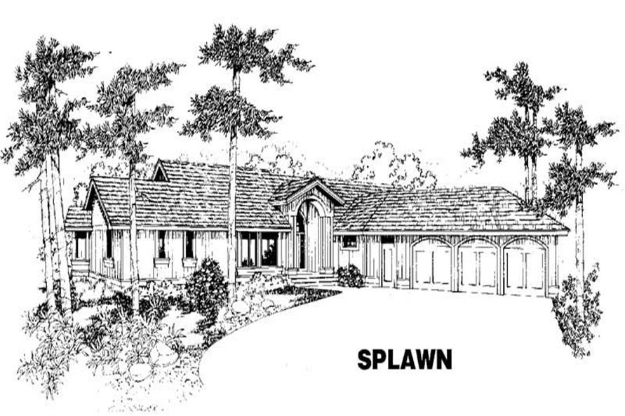 3-Bedroom, 2243 Sq Ft Home Plan - 145-1122 - Main Exterior