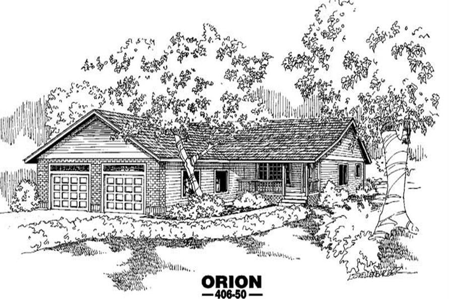 2-Bedroom, 1028 Sq Ft Country Home Plan - 145-1127 - Main Exterior