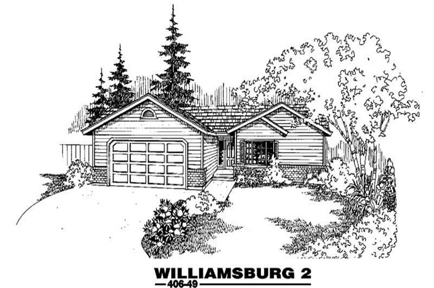 3-Bedroom, 1528 Sq Ft Home Plan - 145-1128 - Main Exterior