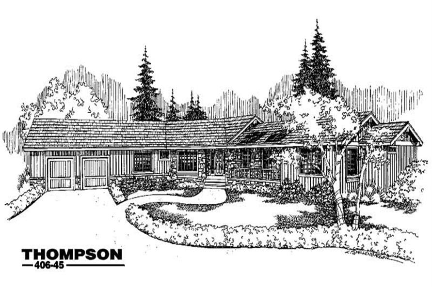 3-Bedroom, 3242 Sq Ft Country Home Plan - 145-1129 - Main Exterior