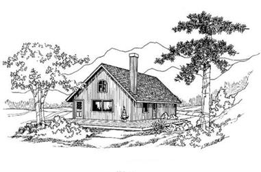 2-Bedroom, 988 Sq Ft Small House Plans - 145-1131 - Main Exterior