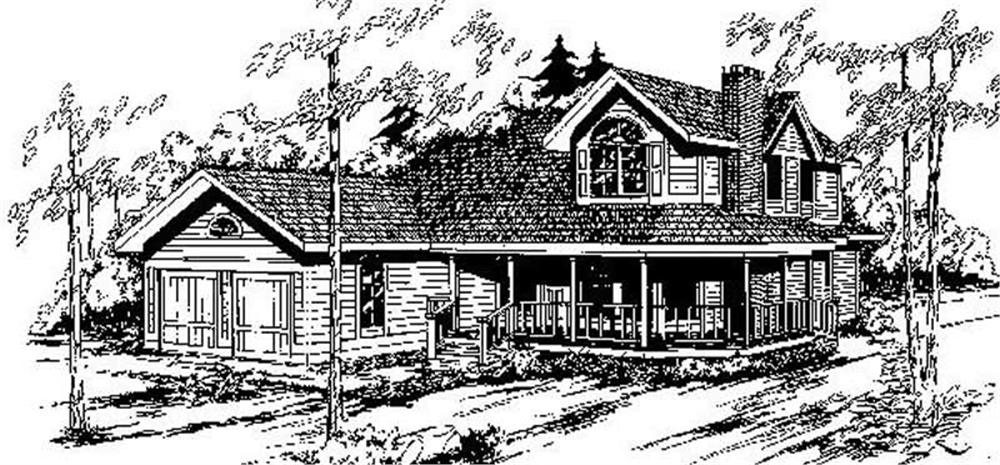 Country home (ThePlanCollection: Plan #145-1132)
