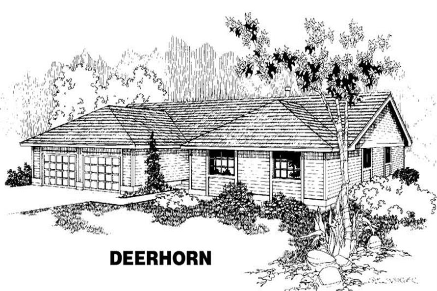 3-Bedroom, 2005 Sq Ft Home Plan - 145-1137 - Main Exterior