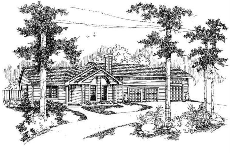 3-Bedroom, 1685 Sq Ft Ranch Home Plan - 145-1140 - Main Exterior