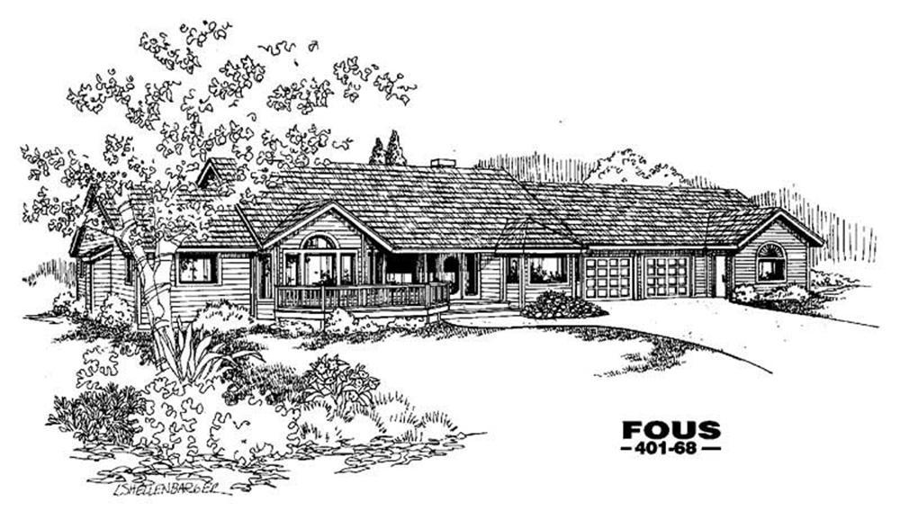 Craftsman home (ThePlanCollection: Plan #145-1141)