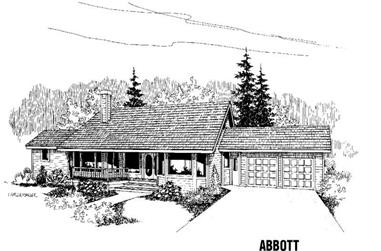 4-Bedroom, 2458 Sq Ft Country Home Plan - 145-1144 - Main Exterior