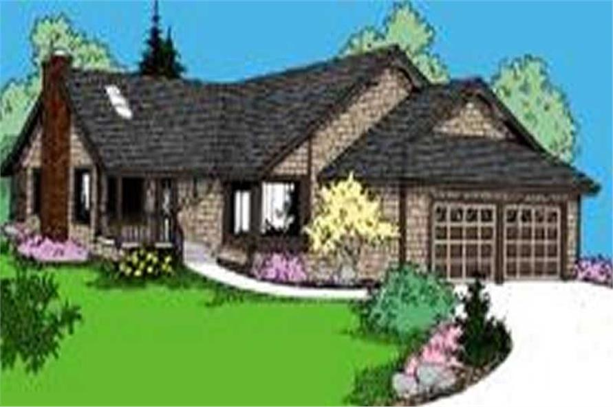 3-Bedroom, 1751 Sq Ft Country Home Plan - 145-1145 - Main Exterior