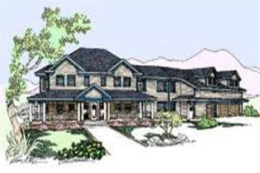 4-Bedroom, 4313 Sq Ft Country Home Plan - 145-1146 - Main Exterior