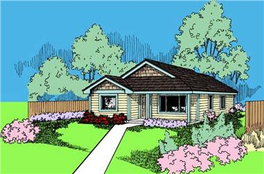 3-Bedroom, 1510 Sq Ft Ranch House Plan - 145-1148 - Front Exterior