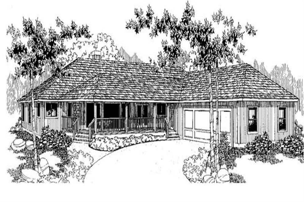 Front elevation of Country home (ThePlanCollection: House Plan #145-1150)