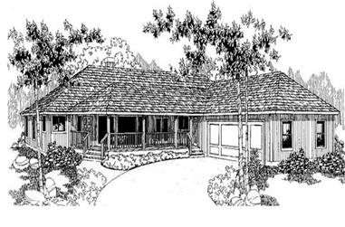 3-Bedroom, 2068 Sq Ft Country Home Plan - 145-1150 - Main Exterior