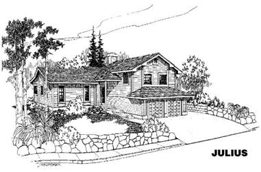 3-Bedroom, 1636 Sq Ft Ranch House Plan - 145-1151 - Front Exterior