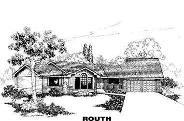 2-Bedroom, 2221 Sq Ft Ranch House Plan - 145-1153 - Front Exterior