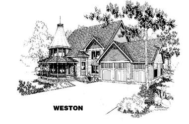 6-Bedroom, 3420 Sq Ft Luxury House Plan - 145-1155 - Front Exterior