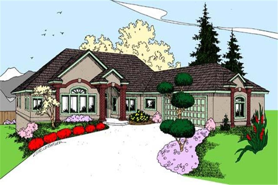4-Bedroom, 2876 Sq Ft Craftsman Home Plan - 145-1162 - Main Exterior