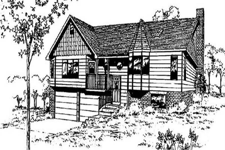 3-Bedroom, 1362 Sq Ft Small House Plans - 145-1169 - Front Exterior