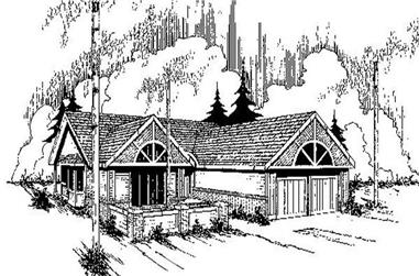 3-Bedroom, 1462 Sq Ft Ranch House Plan - 145-1170 - Front Exterior