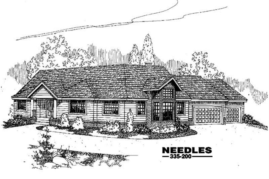 4-Bedroom, 2354 Sq Ft Ranch House Plan - 145-1174 - Front Exterior