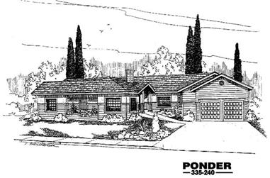 4-Bedroom, 2482 Sq Ft Ranch House Plan - 145-1175 - Front Exterior