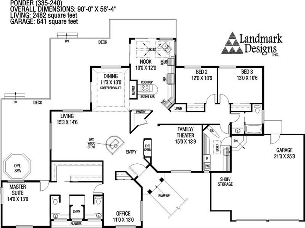 Large Images For House Plan 145 1175