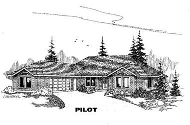 4-Bedroom, 2443 Sq Ft Contemporary House Plan - 145-1177 - Front Exterior