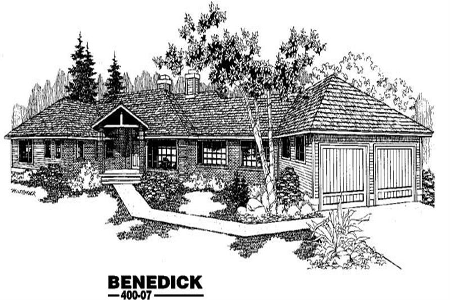 5-Bedroom, 3173 Sq Ft Ranch House Plan - 145-1178 - Front Exterior