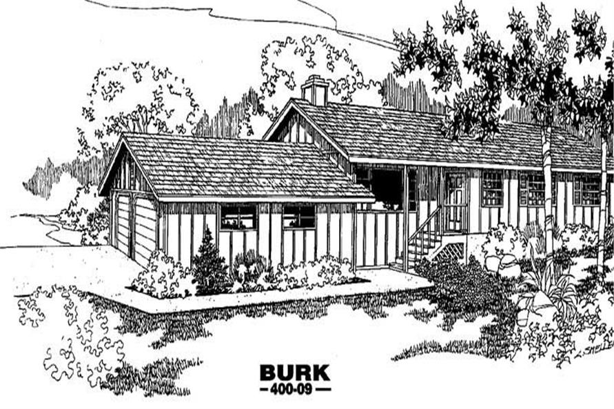 3-Bedroom, 1388 Sq Ft Log Cabin House Plan - 145-1179 - Front Exterior