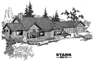 4-Bedroom, 2474 Sq Ft Contemporary House Plan - 145-1180 - Front Exterior