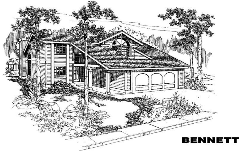 Contemporary home (ThePlanCollection: Plan #145-1182)