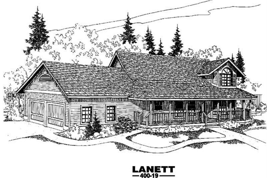 3-Bedroom, 2488 Sq Ft Country House Plan - 145-1183 - Front Exterior