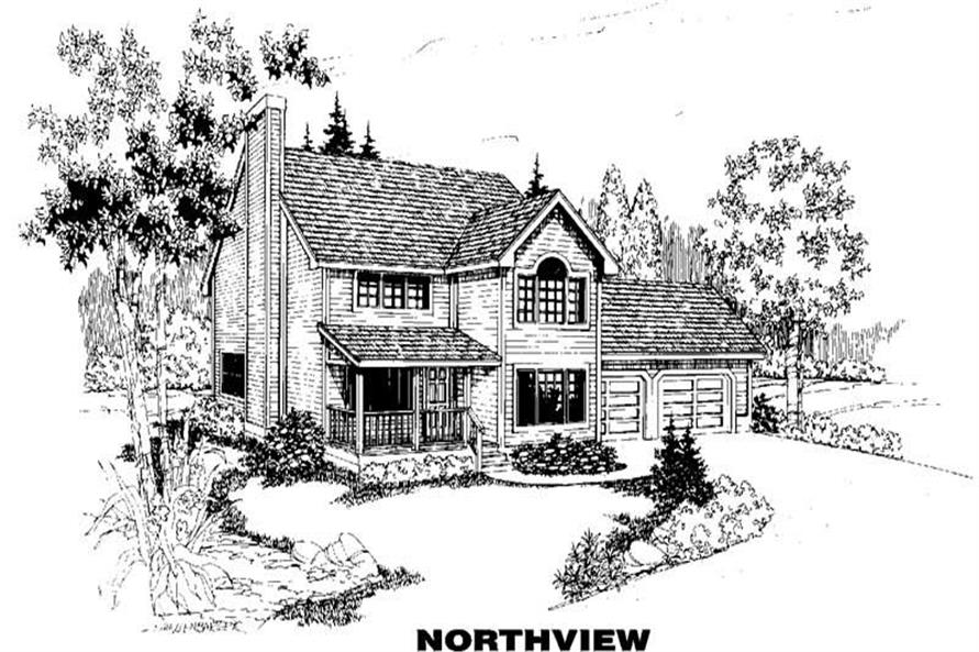 3-Bedroom, 1493 Sq Ft Country Home Plan - 145-1184 - Main Exterior