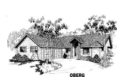 3-Bedroom, 1502 Sq Ft Home Plan - 145-1185 - Main Exterior