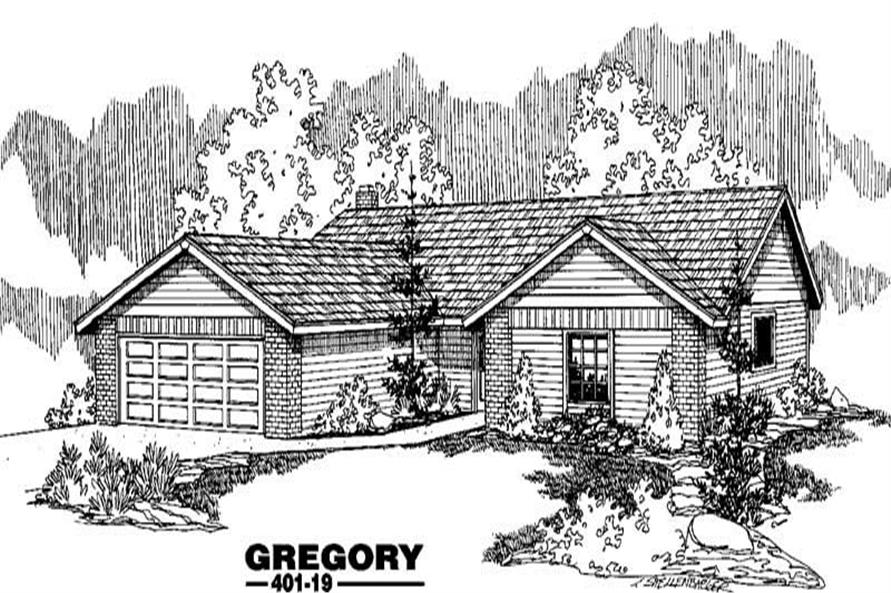 4-Bedroom, 1744 Sq Ft Ranch Home Plan - 145-1187 - Main Exterior
