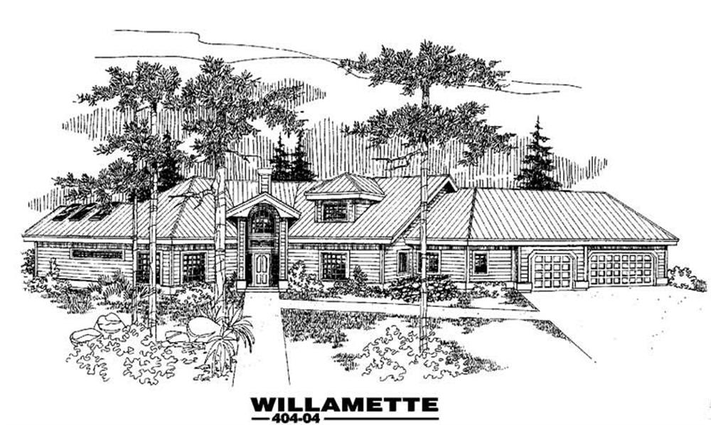 Ranch home (ThePlanCollection: Plan #145-1188)