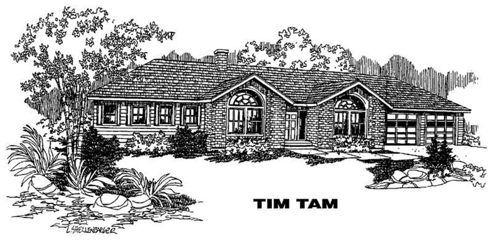 Ranch home (ThePlanCollection: Plan #145-1190)