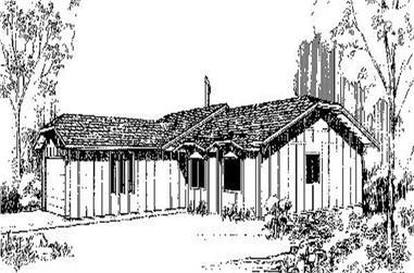 3-Bedroom, 1719 Sq Ft Ranch Home Plan - 145-1192 - Main Exterior