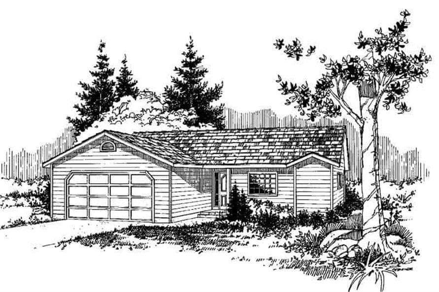 3-Bedroom, 1316 Sq Ft Home Plan - 145-1193 - Main Exterior