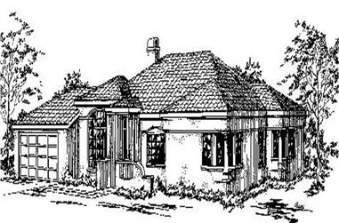 3-Bedroom, 2084 Sq Ft Mediterranean Home Plan - 145-1203 - Main Exterior