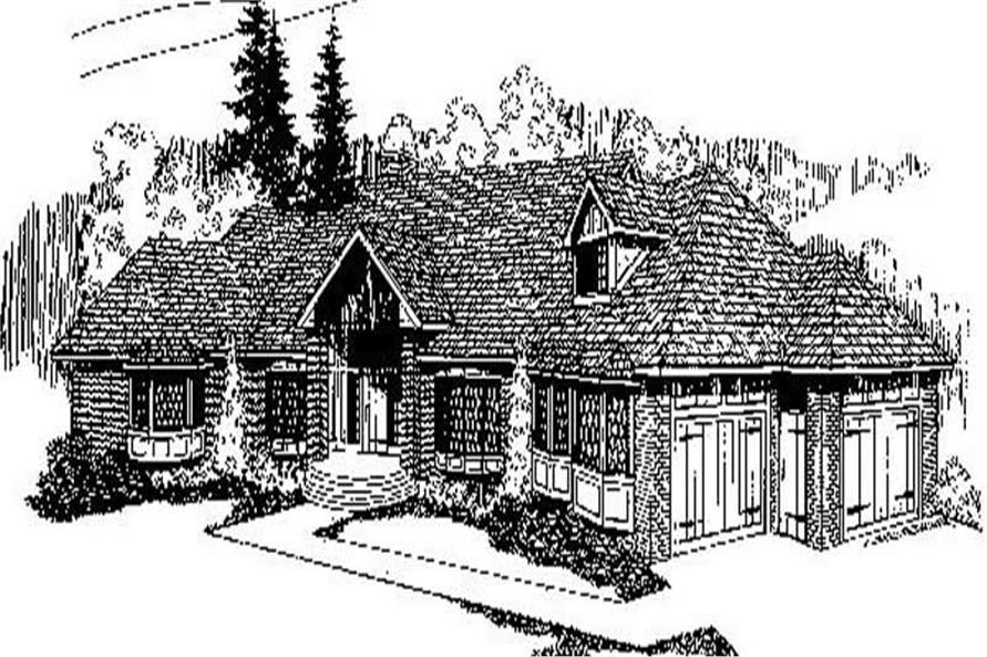 4-Bedroom, 2972 Sq Ft Traditional Home Plan - 145-1204 - Main Exterior