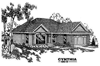 4-Bedroom, 1836 Sq Ft Contemporary Home Plan - 145-1206 - Main Exterior