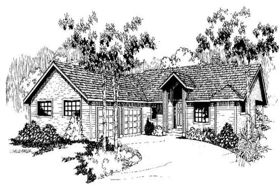 3-Bedroom, 1620 Sq Ft Ranch Home Plan - 145-1207 - Main Exterior