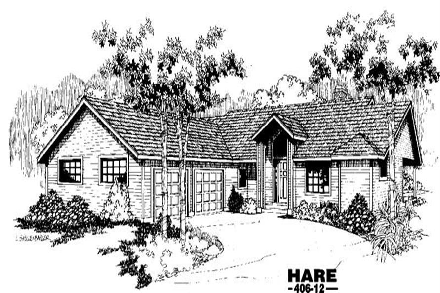 3-Bedroom, 1620 Sq Ft Colonial Home Plan - 145-1207 - Main Exterior