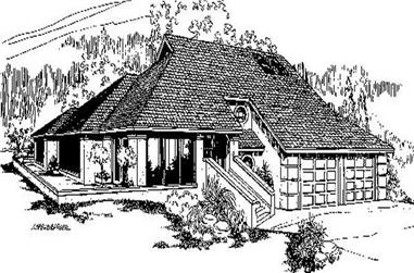 3-Bedroom, 2382 Sq Ft Traditional Home Plan - 145-1209 - Main Exterior