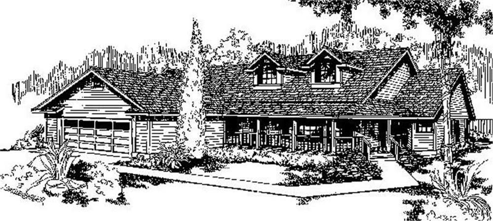 Country home (ThePlanCollection: Plan #145-1210)